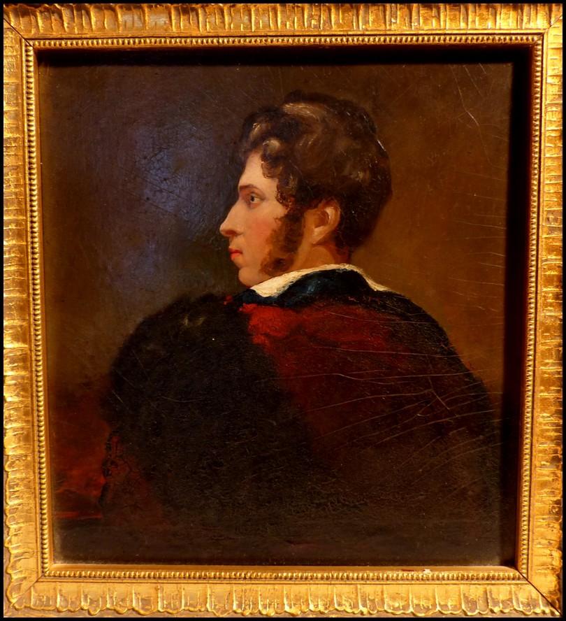 portrait d 39 un jeune lord anglais huile sur bois ecole anglaise du xixe si cle ebay. Black Bedroom Furniture Sets. Home Design Ideas