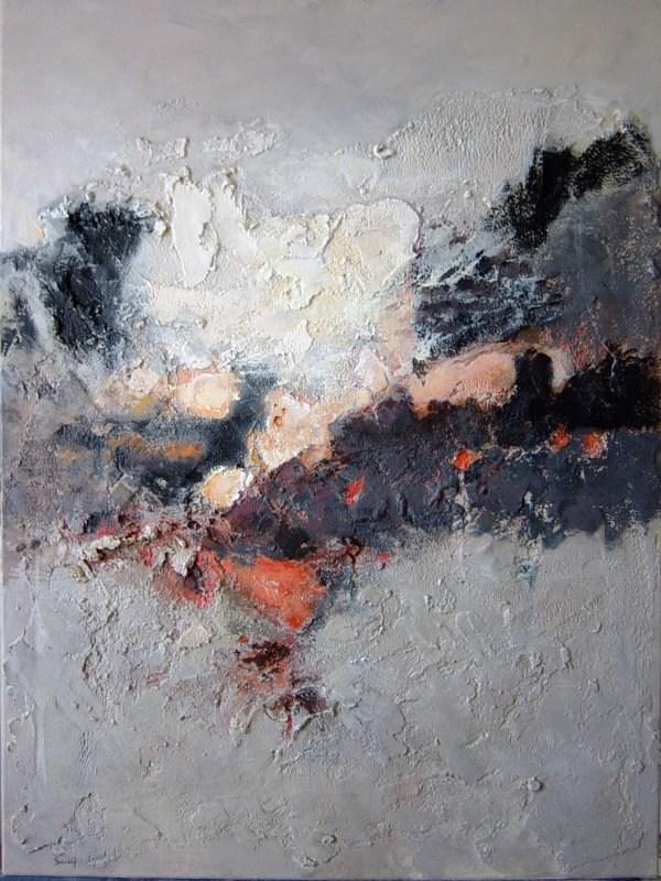Art actuel peinture toile j c sarry tableau abstrait ebay - Toile imprimee abstrait ...