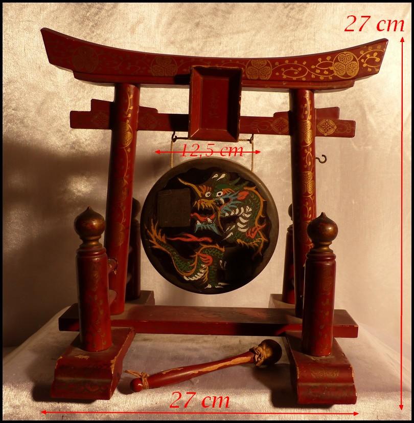 japon re meiji torii sanctuaire d 39 itsukushima gong japonnais bronze bois laqu ebay. Black Bedroom Furniture Sets. Home Design Ideas